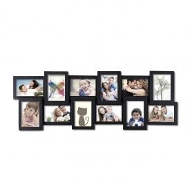 Adeco Decorative Black Polyresin Wall Hanging Collage Picture Photo Frame 12 Openings 4x6 Framed Photo Collage Collage Picture Frames Frame Wall Collage
