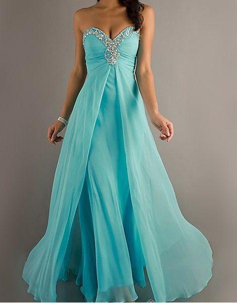 Cute Long Aquamarine Prom Dress(: - Dresses - Pinterest - And ...