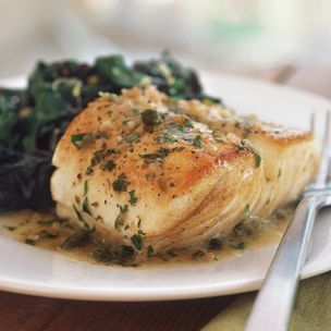 #Fish with Lemon and Caper Sauce