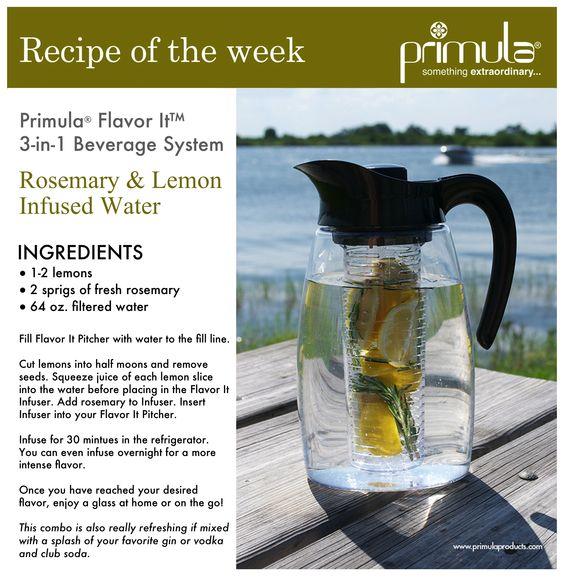 Rosemary & Lemon Infused Water