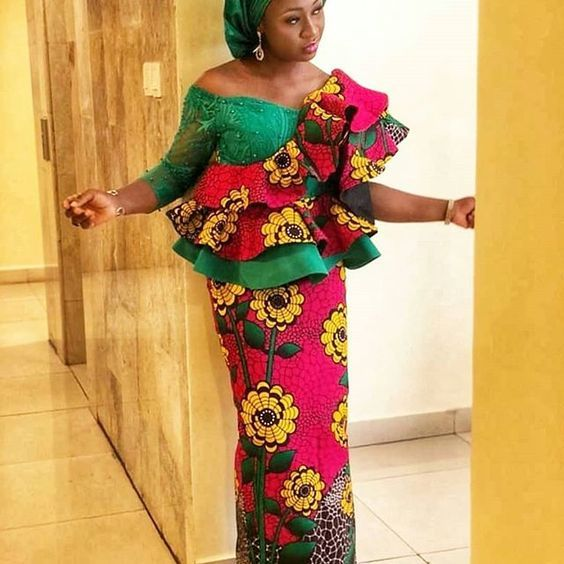 Ankara Long Skirt And Blouse Combinations For Ladies 2019 African Print Dress Ankara African Design Dresses Ankara Skirt And Blouse
