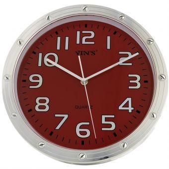 Relógio de Parede Yins YI15106 Vermelho 30cm - Megazim