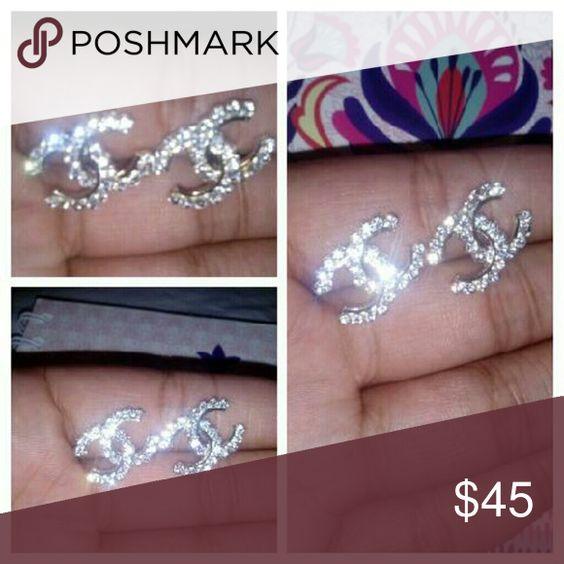 Diamond Earrings New w/tags PINK Victoria's Secret Jewelry Earrings