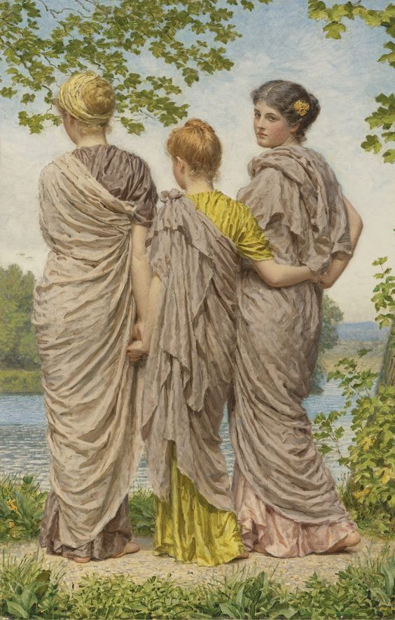 Albert Joseph Moore, A.R.W.S. | Lot  Waiting to cross (1841-1893)