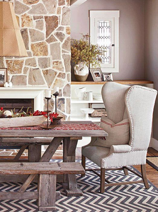 Romantic Country Style Dining Area interior design ideas We
