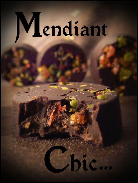 Mendiant Chic .... ou Petites Bouchées au Chocolat Noir