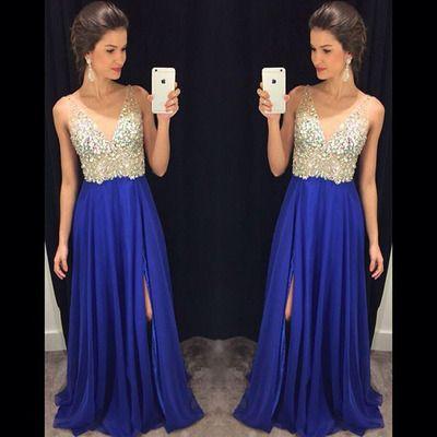 New Arrival Charming Prom Dress,A-Line Prom Dress,Chiffon Prom Dress,V-Neck Prom Dress,Beading Prom Dress