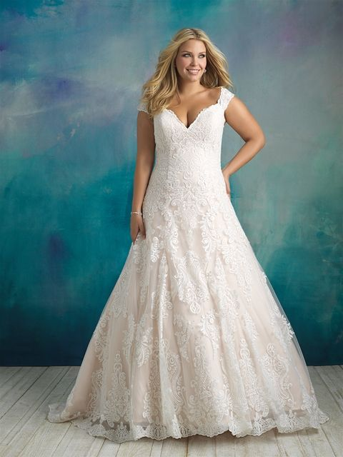 W416 Allure Bridals Plus Size Bridal Available At Lulu S Bridal Boutique Lulu S Bridal Dalla Allure Wedding Dresses Allure Bridal Gowns Allure Bridal