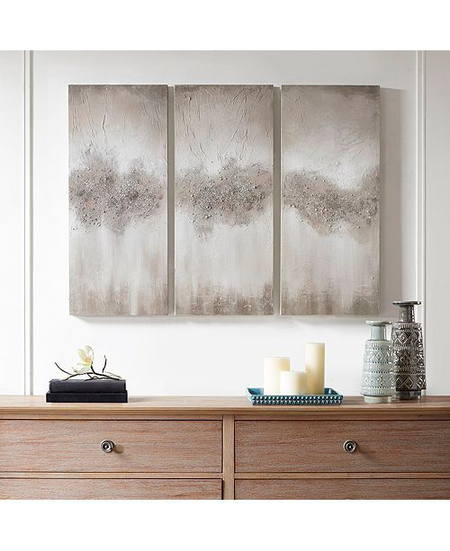 Jla Home Madison Park Taupe Luminous Hand Painted Canvas Reviews Wall Art Macy S Hand Painted Canvas Wall Art Sets 3 Piece Wall Art
