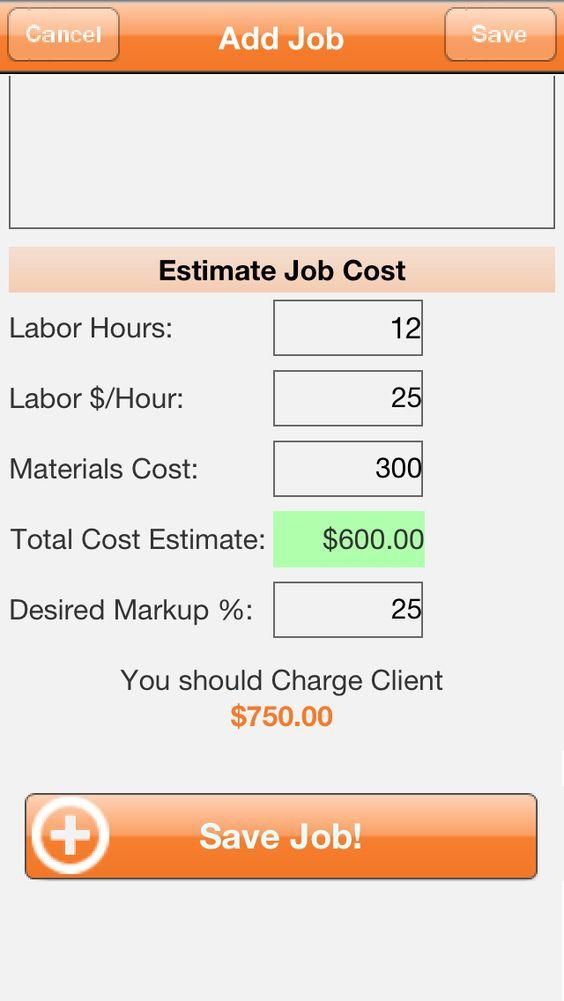 cost estimating jobs