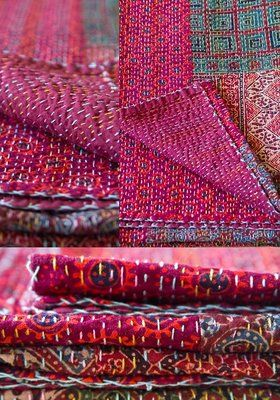 Traditional Ralli Quilts, Gorgeous Colors !! -=- From Roti Kapda Makaan, Selling Very Beautiful Indian Goods  :)