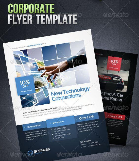 Corporate Flyer Template Poster Pinterest Business flyers - technology brochure template