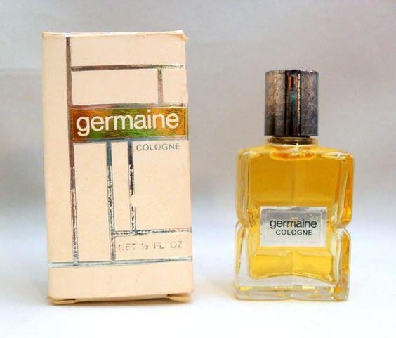 Vintage 1970s Germaine by Germaine Monteil 1/2 oz Cologne Splash DISCONTINUED PERFUME