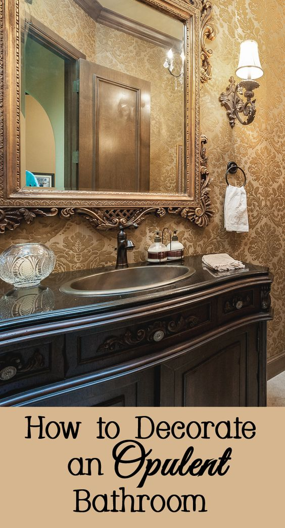 If minimalism is not your style, you might appreciate a more opulent aesthetic.  Opulent decorating is all about having many tiny details and being a bit over the top.  Whether your style is traditional or contemporary, here are a few ways to decorate your bathroom in a more lavish, extravagant, and opulent way.
