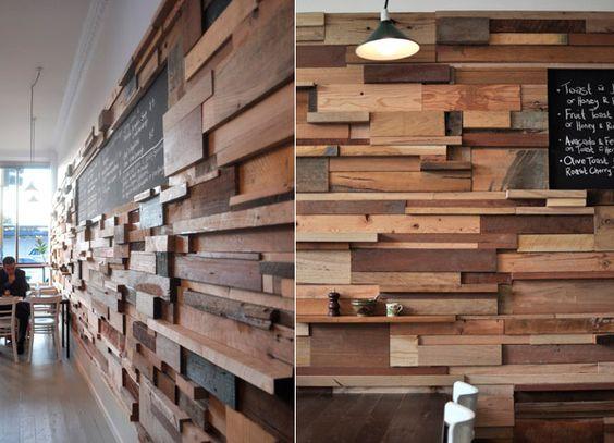 回收木材拼貼木牆 - DECOmyplace