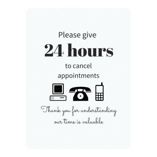 Cancellation Policy Zazzle Com Hair Salon Marketing Hair