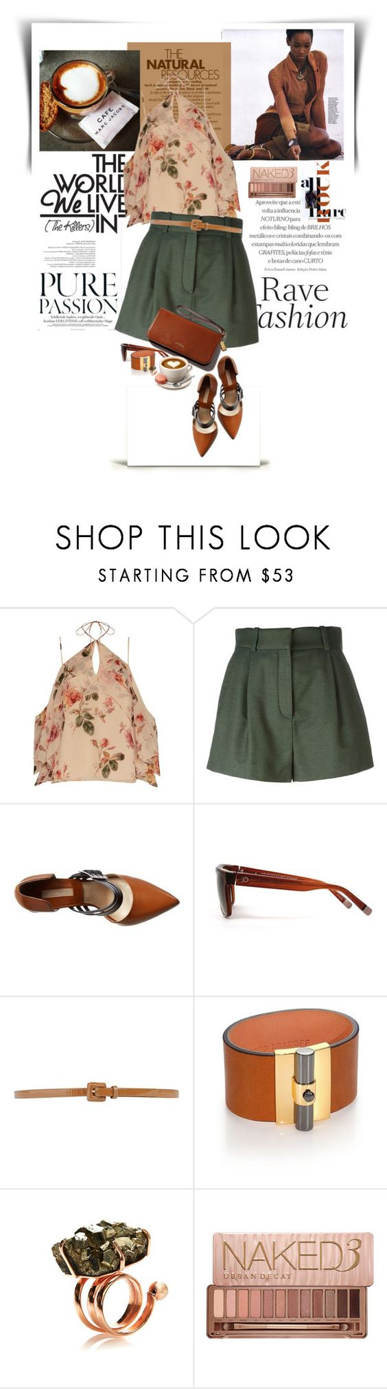"""...The Natural..."" by vanjazaric6886 ❤ liked on Polyvore featuring Exclusive for Intermix, Versace, Michael Kors, Etnia Barcelona, Tara Jarmon, Reed Krakoff, Cédric Charlier and Urban Decay"