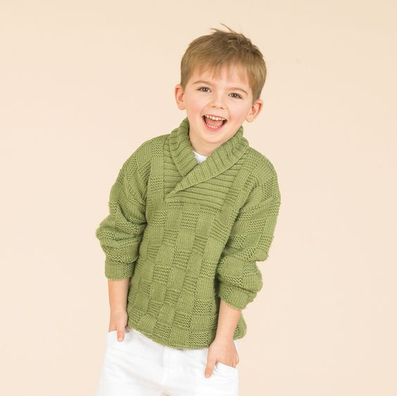 Great wrap neck sweater for boys - in Sublime extra fine merino wool dk Kni...