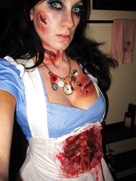 Zombie makeup dead Alice in wonderland zombie costume drink me tea ...