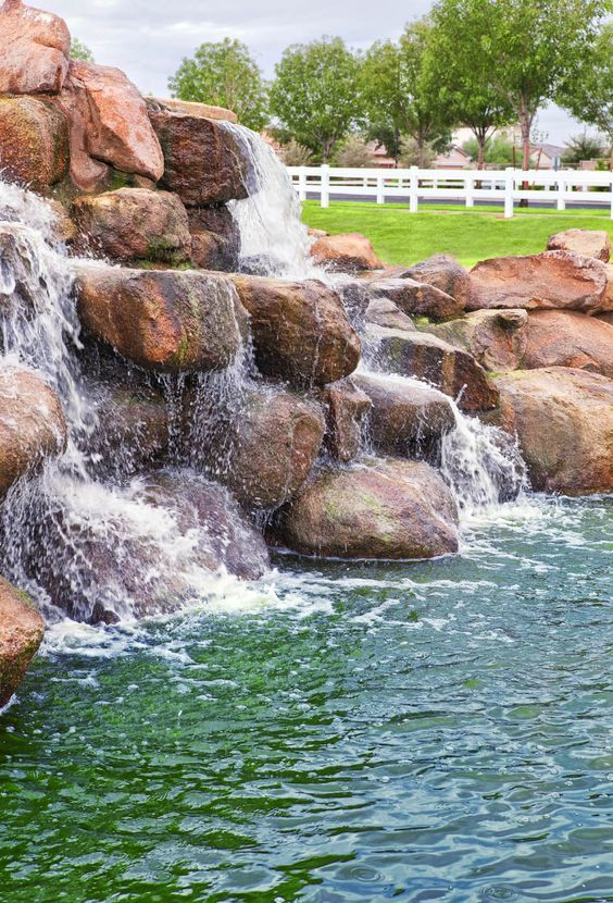 25 Swimming Pool With Waterfalls Ideas For Outstanding View Pool Waterfall Cool Swimming Pools Swimming Pool Designs