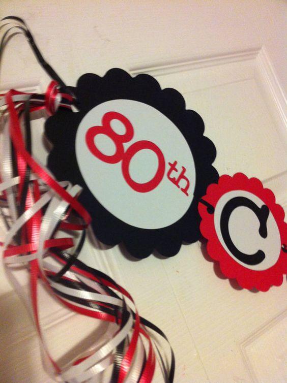 Cheer birthdays and 80th birthday decorations on pinterest for 80th birthday party decoration