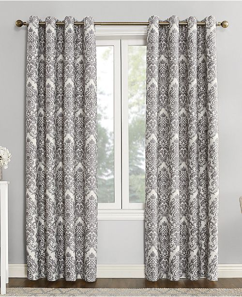 Sun Zero Closeout Courtney 52 X 63 Damask Blackout Lined
