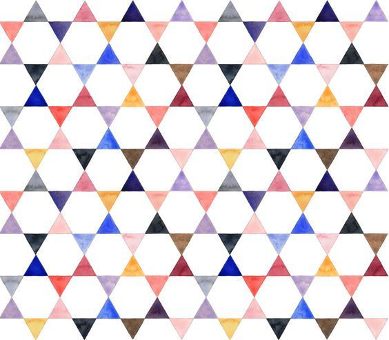 watercolour patchwork pattern | HELENA LESLIE