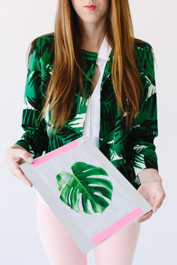 Free Tropical Leaf Printable Dino Party Pinterest
