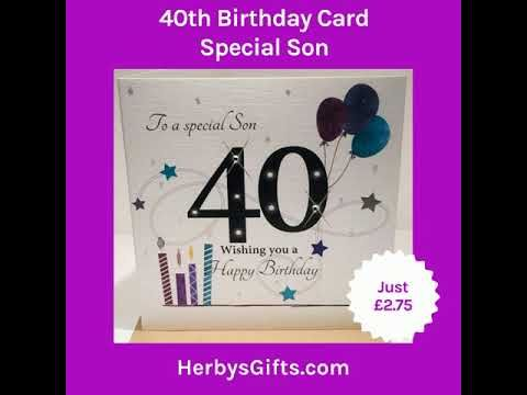 40th Birthday Card Special Son A Fab New 40th Card For A Son Design By Rush Design Features Special 40th Birthday Cards Birthday Cards 40th Birthday