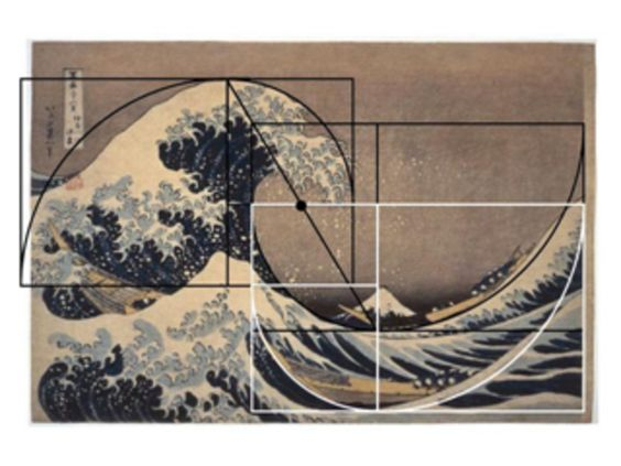Golden ratio waves and composition on pinterest for Golden ratio artwork