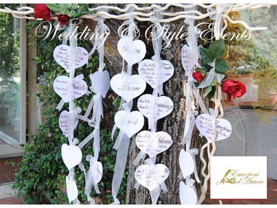 TABLEAU CUORI & ROSE ROSSE - Nozze Romantiche , by Emozioni D' Autore, 90,00 € su misshobby.com