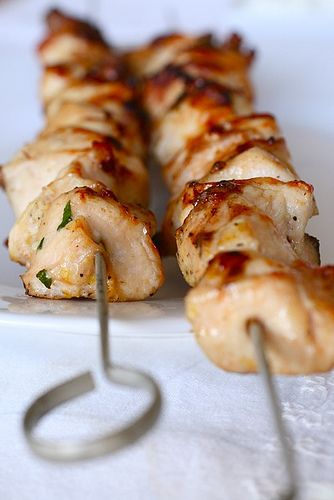 Garlic lemon chicken kabobs