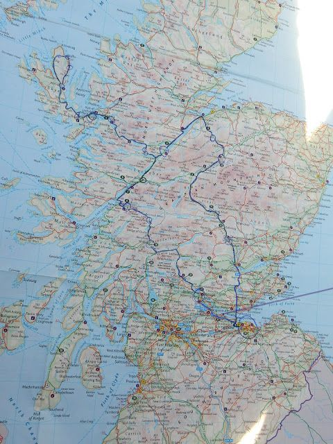 A map of where to go in Scotland - the best 3-day road trip ever through the Highlands and into Skye.