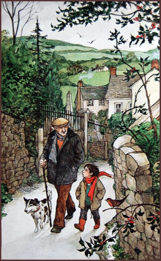 'A Child's Christmas in Wales' (1955) by Dylan Thomas. Illustrated by Trina Schart Hyman. A Child's Christmas in Wales is a prose work by the Welsh writer Dylan Thomas. The story is an anecdotal retelling of a Christmas from the view of a young child, portraying a nostalgic and simpler time.: