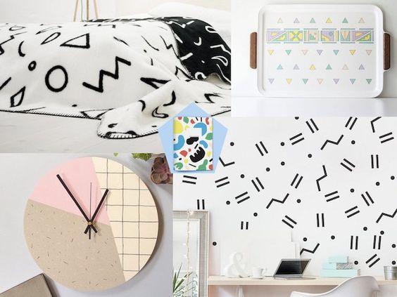 memphis design dessin idee decoration