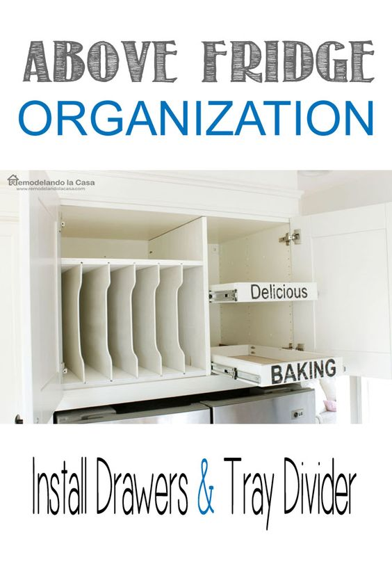 Installing Pull Out Drawers In Kitchen Cabinets Part - 23: Kitchen Organization - How To Install Pull-out Drawers In Cabinet Above  Fridge | Organizations, Drawers And Kitchens