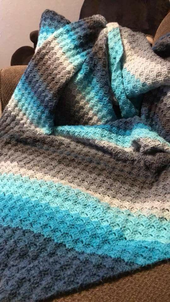 Like Color Combo Mandala Yarn 4 5 Hook Waffle Stitch Crochet Patterns Crochet Blanket Colors Crochet Waffle Stitch