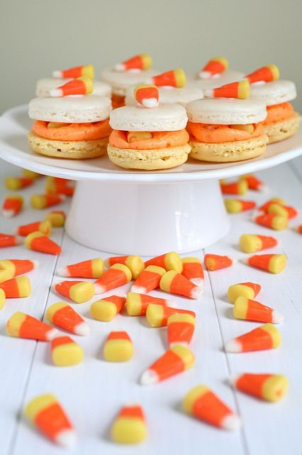 candy corn macarons by annieseats,