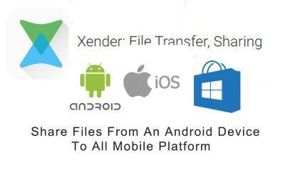 xender file transfer sharing cnxender