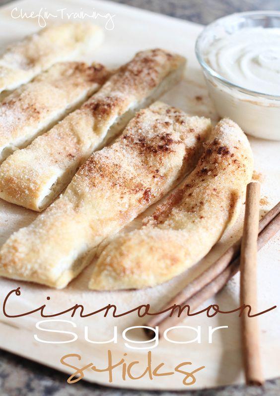 Cinnamon Sugar Sticks via @Nikki {Chef In Training}