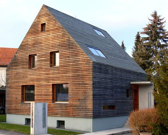 Fassade aus Holz nach 5 Jahren