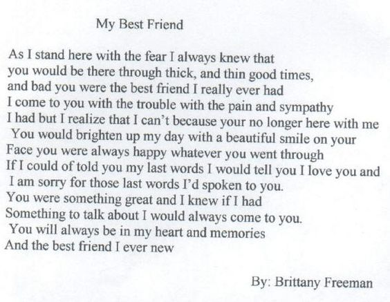Best Friend Quotes For Opposite Gender : Best friends poems sorry for