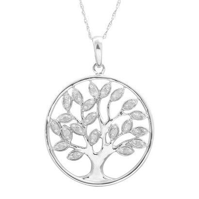 1/4 CT. T.W. Diamond Tree Of Life Pendant in Sterling Silver | Target