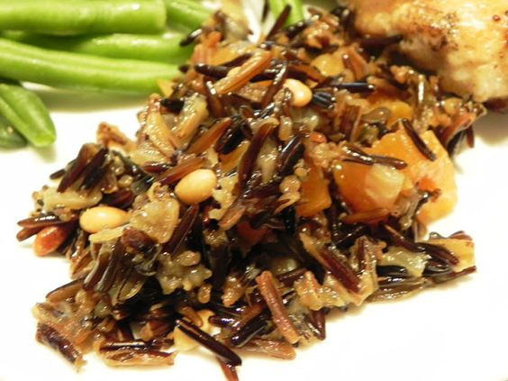 The Iowa Housewife: Wild Rice Pilaf with Dried Apricots and Pine Nuts ...