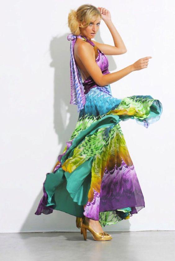 Vestido de baile maxi roxo praia couture casamento por MittmibyD