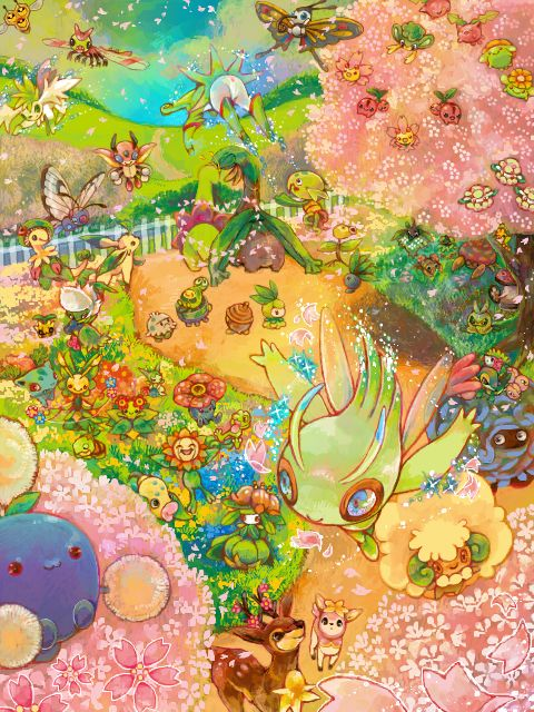 A beautiful Grass Pokémon garden!
