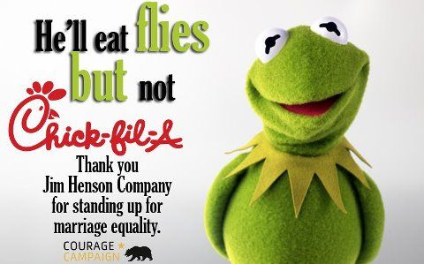 It's not easy being green, but we stand together no matter what our differences are. Thank you, Jim Henson Company.
