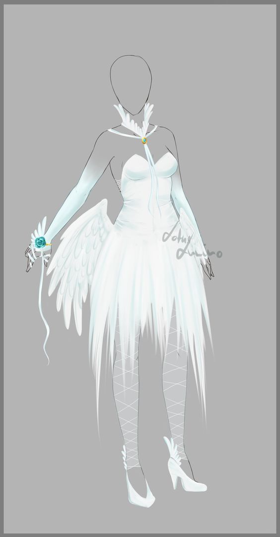 Ice dresses White feathers and Design on Pinterest
