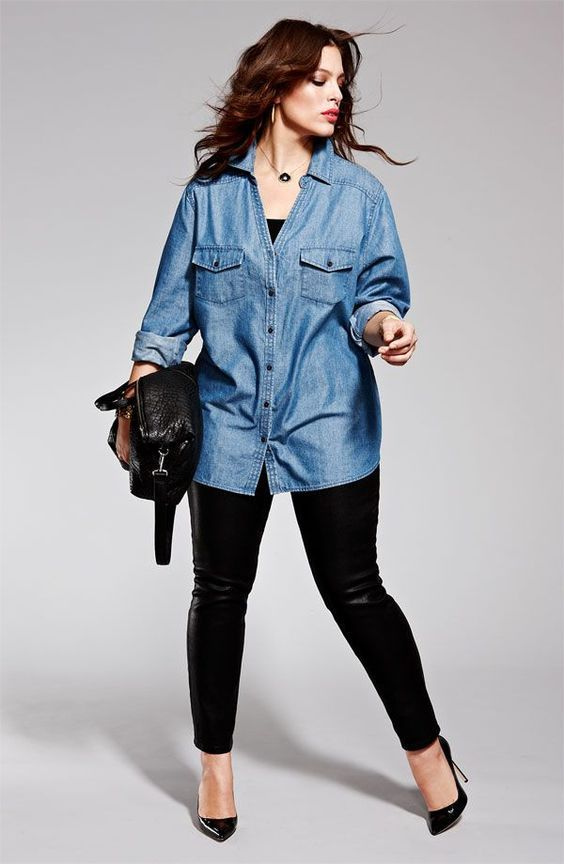 moda anti-idade com camisas femininas - plus size