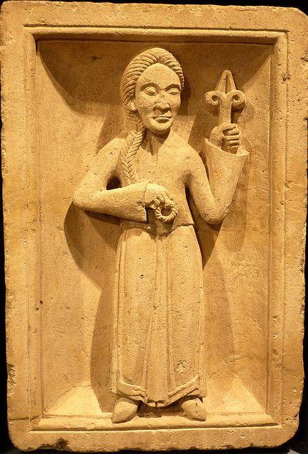 Romanesque Zodiac - Virgo    Tierkreisrelief aus Brauweiler – vor 1141  Zodiac reliefs from Brauweiler – before 1141